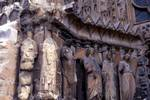 Reims; Stephen, Nicholas, Helen, Denis, angel; left jamb figures of the north portal, west facade.   Click to enter image viewer  Use the Save buttons below to save any of the available image sizes to your computer.
