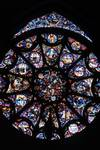 Reims; Creation, God the Creator, Adam, Eve, Cain, Abel, Virgin Mary, Jesus Christ; Rose of the north transept.   Click to enter image viewer  Use the Save buttons below to save any of the available image sizes to your computer.