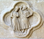 Solomon Answers the Questions of the Queen of Sheba.   Click to enter image viewer  Use the Save buttons below to save any of the available image sizes to your computer.