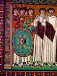 St. Vitale - Emperor Justinian (Detail).   Click to enter image viewer  Use the Save buttons below to save any of the available image sizes to your computer.