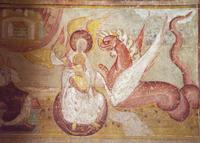 St. Savin - Temple of God; Woman, Child, and Dragon.   Click to enter image viewer  Use the Save buttons below to save any of the available image sizes to your computer.