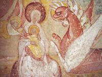 St. Savin - Woman, Child, and Dragon (Detail).   Click to enter image viewer  Use the Save buttons below to save any of the available image sizes to your computer.