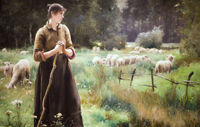 The Good Shepherd.  Dupre, Julien, 1851-1910  Click to enter image viewer  Use the Save buttons below to save any of the available image sizes to your computer.