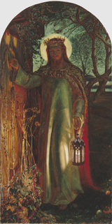 The Light of the World.  Hunt, William Holman, 1827-1910  Click to enter image viewer  Use the Save buttons below to save any of the available image sizes to your computer.
