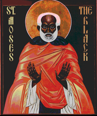 St. Moses the Black.   Click to enter image viewer  Use the Save buttons below to save any of the available image sizes to your computer.