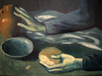The Blind Man's Meal (detail).  Picasso, Pablo, 1881-1973  Click to enter image viewer  Use the Save buttons below to save any of the available image sizes to your computer.