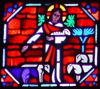 Jesus the Good Shepherd.  Le Breton, Jacques ; Gaudin, Jean  Click to enter image viewer  Use the Save buttons below to save any of the available image sizes to your computer.