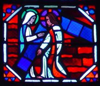 Jesus Carrying the Cross, Speaking to a Woman.  Le Breton, Jacques ; Gaudin, Jean  Click to enter image viewer  Use the Save buttons below to save any of the available image sizes to your computer.