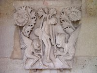 Cathedral of St. Lazare, Autun, France -- Relief sculpture.   Click to enter image viewer  Use the Save buttons below to save any of the available image sizes to your computer.
