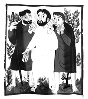 Risen Christ on the Road to Emmaus.   Click to enter image viewer  Use the Save buttons below to save any of the available image sizes to your computer.