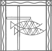 Cross with Fish.   Click to enter image viewer  Use the Save buttons below to save any of the available image sizes to your computer.
