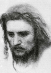 Study for Christ in the Wilderness.  Kramskoĭ, Ivan Nikolaevich, 1837-1887  Click to enter image viewer  Use the Save buttons below to save any of the available image sizes to your computer.