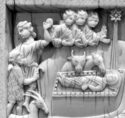 Ivory Carving of the Nativity, Constantinople region.   Click to enter image viewer  Use the Save buttons below to save any of the available image sizes to your computer.