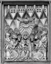 Descent of the Holy Spirit upon Mary and the Apostles.  Haider, Simon  Click to enter image viewer  Use the Save buttons below to save any of the available image sizes to your computer.