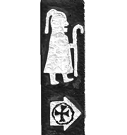 Pilgrim with Staff.   Click to enter image viewer  Use the Save buttons below to save any of the available image sizes to your computer.
