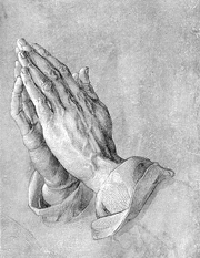 Praying Hands, or Study of the Hands of an Apostle.  Dürer, Albrecht, 1471-1528  Click to enter image viewer  Use the Save buttons below to save any of the available image sizes to your computer.
