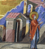 Hannah, prophetess and mother of Samuel, thanking God.