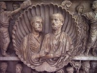 Roman Patrons of the Two Brothers Sarcophagus.   Click to enter image viewer  Use the Save buttons below to save any of the available image sizes to your computer.