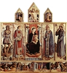 Altarpiece of San Silvestro.  Crivelli, Carlo, 15th cent.  Click to enter image viewer  Use the Save buttons below to save any of the available image sizes to your computer.