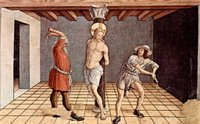 Flagellation of Christ.  Crivelli, Carlo, 15th cent.  Click to enter image viewer  Use the Save buttons below to save any of the available image sizes to your computer.