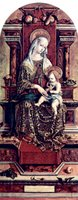 Enthroned Madonna.  Crivelli, Carlo, 15th cent.  Click to enter image viewer  Use the Save buttons below to save any of the available image sizes to your computer.