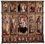 Altarpiece of Sant'Emidio.  Crivelli, Carlo, 15th cent.  Click to enter image viewer  Use the Save buttons below to save any of the available image sizes to your computer.