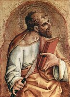 Bartholomew, the Apostle.  Crivelli, Carlo, 15th cent.  Click to enter image viewer  Use the Save buttons below to save any of the available image sizes to your computer.