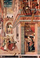 Annunciation to Mary.  Crivelli, Carlo, 15th cent.  Click to enter image viewer  Use the Save buttons below to save any of the available image sizes to your computer.