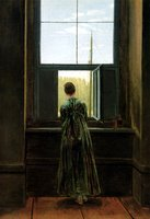 Woman at the Window.  Friedrich, Caspar David, 1774-1840  Click to enter image viewer  Use the Save buttons below to save any of the available image sizes to your computer.