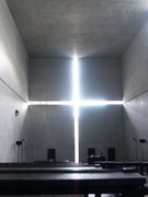 Interior of the Church of the Light.  Andō, Tadao, 1941-  Click to enter image viewer  Use the Save buttons below to save any of the available image sizes to your computer.