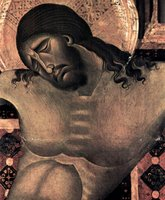 Christ, detail from Crucifixion.  Cimabue  Click to enter image viewer  Use the Save buttons below to save any of the available image sizes to your computer.