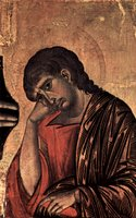 John, detail from Crucifixtion.  Cimabue  Click to enter image viewer  Use the Save buttons below to save any of the available image sizes to your computer.