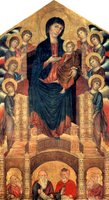 Enthroned Madonna with Angels and Prophets.  Cimabue  Click to enter image viewer  Use the Save buttons below to save any of the available image sizes to your computer.