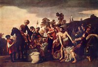 Joseph's Servants Find the Cup in Benjamin's Sack.  Moeyaert, Claes Cornelisz, 1592 or 3-1655  Click to enter image viewer  Use the Save buttons below to save any of the available image sizes to your computer.