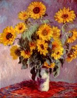 Sunflowers.  Monet, Claude, 1840-1926  Click to enter image viewer  Use the Save buttons below to save any of the available image sizes to your computer.