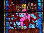 The Woman and the Beast; Clermont-Ferrand stained glass.   Click to enter image viewer  Use the Save buttons below to save any of the available image sizes to your computer.