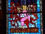 The Woman and the Beast from Revelation, Clermont-Ferrand stained glass.   Click to enter image viewer  Use the Save buttons below to save any of the available image sizes to your computer.