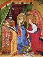 Annunciation to Mary.  Conrad, von Soest, fl. 1370-1420  Click to enter image viewer  Use the Save buttons below to save any of the available image sizes to your computer.