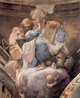 Luke, the Apostle, and Ambrose, the Church Father.  Correggio, 1489?-1534  Click to enter image viewer  Use the Save buttons below to save any of the available image sizes to your computer.