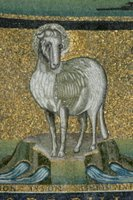 Lamb of God - Basilica of Cosmas and Damien.   Click to enter image viewer  Use the Save buttons below to save any of the available image sizes to your computer.