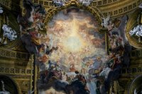 Il Gesu - Ceiling Painting.   Click to enter image viewer  Use the Save buttons below to save any of the available image sizes to your computer.