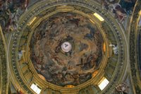 Il Gesu - Ceiling Painting of Apotheosis.   Click to enter image viewer  Use the Save buttons below to save any of the available image sizes to your computer.