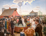 Baptism in Kansas.  Curry, John Steuart, 1897-1946  Click to enter image viewer  Use the Save buttons below to save any of the available image sizes to your computer.