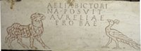 Lamb and Peacock with Aurelius Inscription.   Click to enter image viewer  Use the Save buttons below to save any of the available image sizes to your computer.