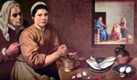 Christ in the House of Mary and Martha.  Velázquez, Diego, 1599-1660  Click to enter image viewer  Use the Save buttons below to save any of the available image sizes to your computer.