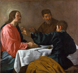 Supper at Emmaus.  Velázquez, Diego, 1599-1660  Click to enter image viewer  Use the Save buttons below to save any of the available image sizes to your computer.