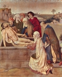 Burial of Christ.  Bouts, Dieric, 1415-1475  Click to enter image viewer  Use the Save buttons below to save any of the available image sizes to your computer.