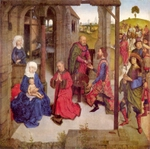Adoration of the Christ Child by the Three Kings.  Bouts, Dieric, 1415-1475  Click to enter image viewer  Use the Save buttons below to save any of the available image sizes to your computer.