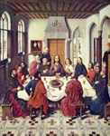 Last Supper.  Bouts, Dieric, 1415-1475  Click to enter image viewer  Use the Save buttons below to save any of the available image sizes to your computer.
