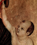 Jesus, detail from Mary with the child Jesus.